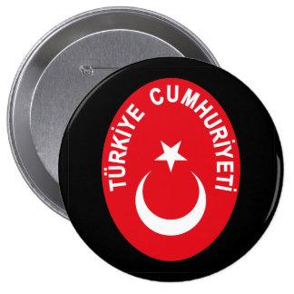 Turkiye (Turkey) COA 4 Inch Round Button