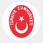 Turkiye (Turkey) COA Stickers