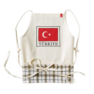 Türkiye Zazzle HEART Apron