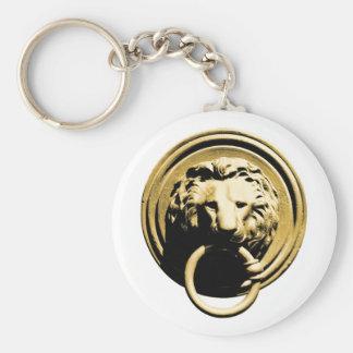 Türklopfer lion door more knocker RAP by lion Basic Round Button Keychain