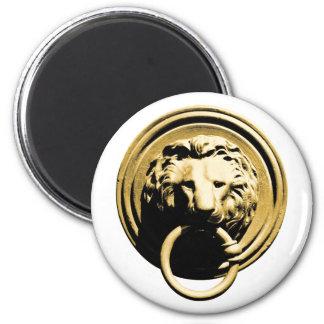 Türklopfer lion door more knocker RAP by lion 2 Inch Round Magnet
