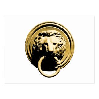 Türklopfer lion door more knocker RAP by lion Postcard