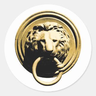 Türklopfer lion door more knocker RAP by lion Classic Round Sticker