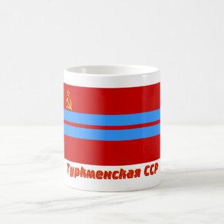 Turkmen SSR Flag with Name Classic White Coffee Mug