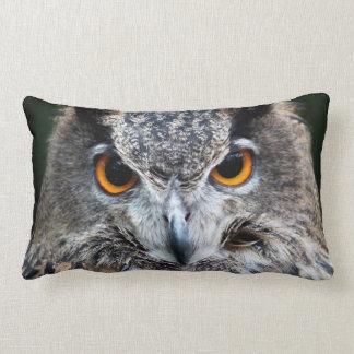 Turkmenian Eagle Owl & Horned owl Throw Pillow