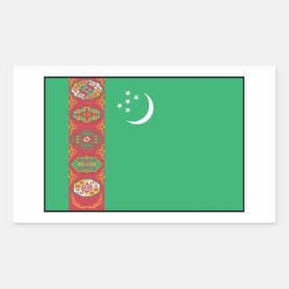 Turkmenistán - bandera turcomana rectangular altavoz