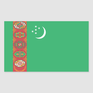 Turkmenistán/bandera turcomana rectangular altavoz