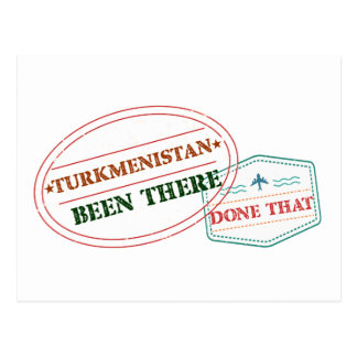 Turkmenistan Been There Done That Postcard