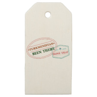 Turkmenistan Been There Done That Wooden Gift Tags
