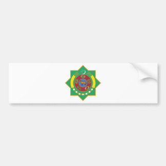 Turkmenistan Coat of Arms Car Bumper Sticker