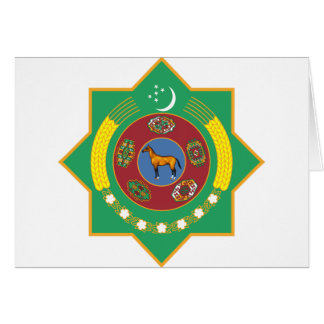 Turkmenistan Coat of Arms Greeting Card
