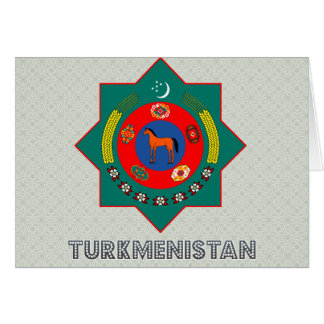 Turkmenistan Coat of Arms Greeting Cards