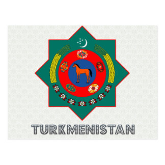 Turkmenistan Coat of Arms Post Card