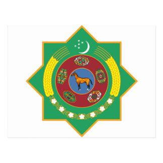 Turkmenistan Coat of Arms Postcard