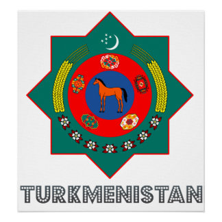 Turkmenistan Coat of Arms Posters
