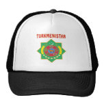 TURKMENISTAN Coat Of Arms Trucker Hats