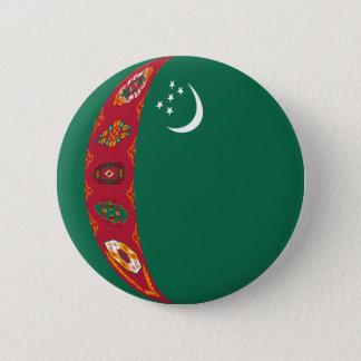 Turkmenistan Fisheye Flag Button