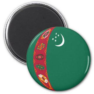 Turkmenistan Fisheye Flag Magnet