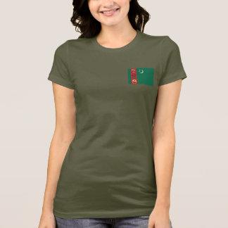 Turkmenistan Flag and Map dk T-Shirt
