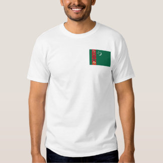 Turkmenistan Flag and Map T-Shirt