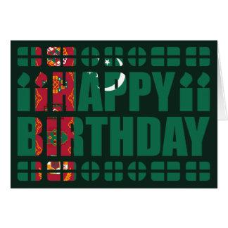 Turkmenistan Flag Birthday Card