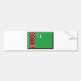 Turkmenistan Flag Car Bumper Sticker