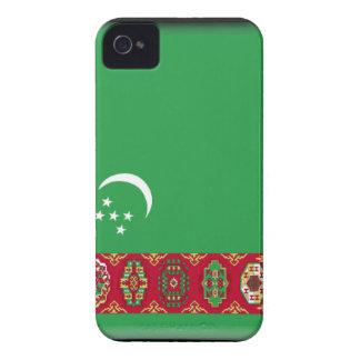 Turkmenistan Flag Case-Mate iPhone 4 Cases