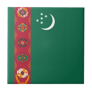 Turkmenistan Flag Ceramic Tile