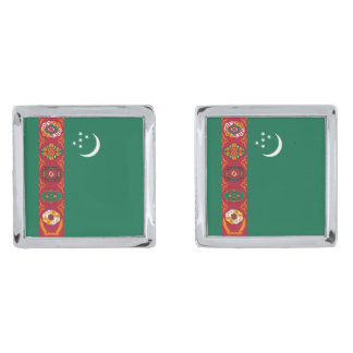 Turkmenistan Flag Cufflinks