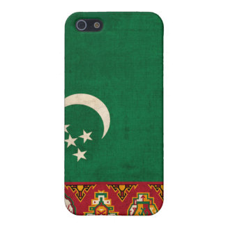 Turkmenistan Flag Distressed iPhone 4 Hard Shell C Case For iPhone SE/5/5s
