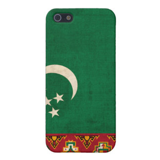 Turkmenistan Flag Distressed iPhone 4 Hard Shell C iPhone SE/5/5s Case