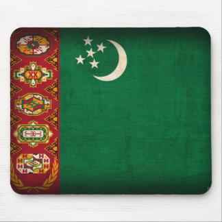 Turkmenistan Flag Distressed Mousepad