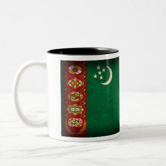Turkmenistan Flag Distressed Mug