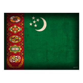 Turkmenistan Flag Distressed Postcards