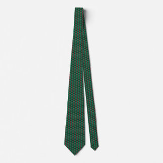 Turkmenistan Flag Hearts Tie