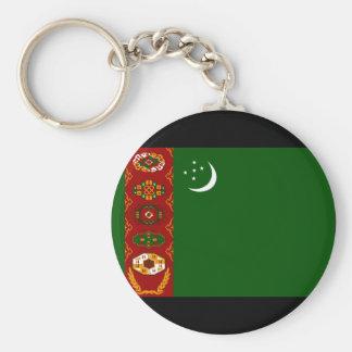 Turkmenistan Flag Keychain