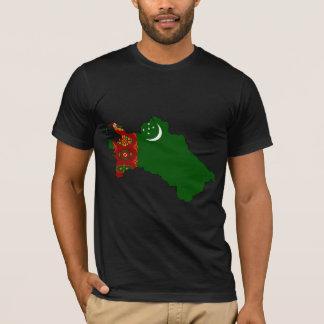 Turkmenistan Flag Map full size T-Shirt