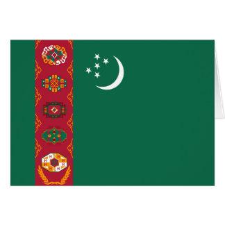 Turkmenistan Flag Notecard