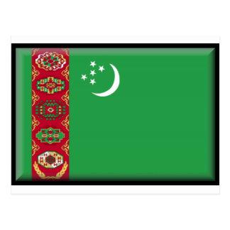Turkmenistan Flag Postcard
