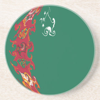 Turkmenistan Gnarly Flag Coasters