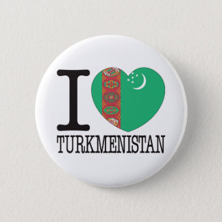 Turkmenistan Love v2 Pinback Button