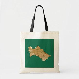 Turkmenistan Map Bag