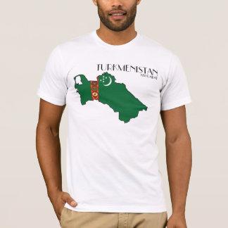 Turkmenistan Map Flag Shirt