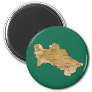 Turkmenistan Map Magnet