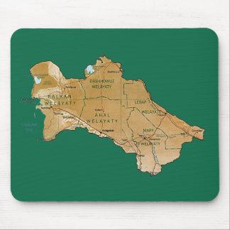 Turkmenistan Map Mousepad
