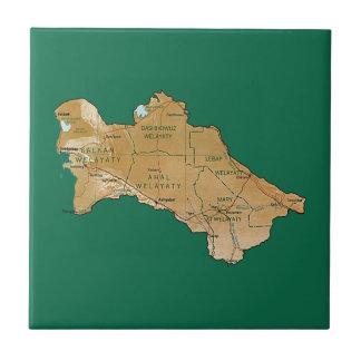 Turkmenistan Map Tile
