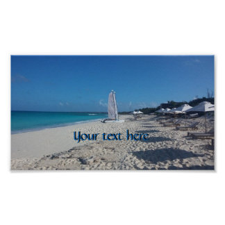 Turks and Caicos Beach Poster