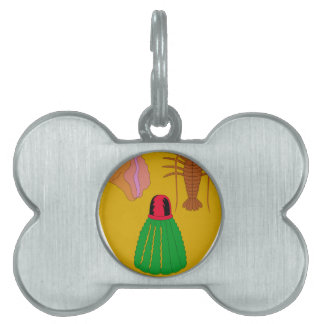 Turks and Caicos Coat of Arms Pet Name Tag