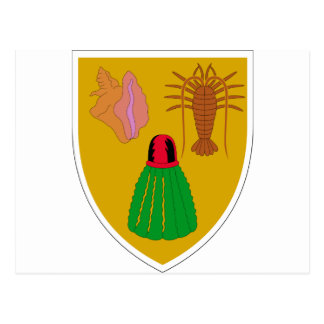 Turks and Caicos Coat of Arms Post Cards