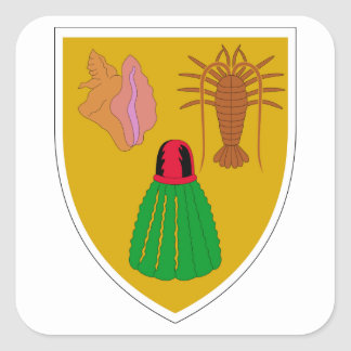 Turks and Caicos Coat of Arms Stickers